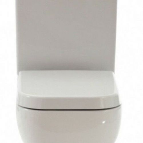 RAK Series 600 Wrap Over Toilet Seat White For Close Coupled & Back To Wall Pan